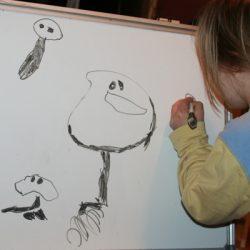 Uwielbiam rysować lewą rączką. To moje postacie.